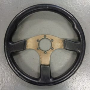 Universal – Aftermarket 33cm Leather Steering Wheel (87089420)