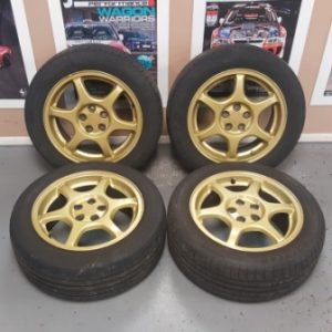 Subaru Impreza GC8 STi – OEM Gold Alloy Wheels | 5×100 |16″ | ET:55
