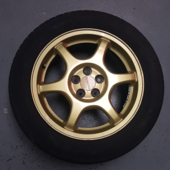 Subaru Impreza Gc8 Sti Oem Gold Alloy Wheels 5x100 16