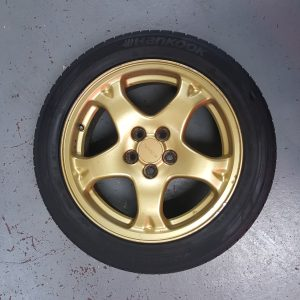 "Subaru Impreza GC8 – STi 16"" OEM Gold Alloy Wheels"