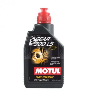 Motul Gear 300 LS 75W-90 Fully Synthetic Racing Gearbox and Diff Oil – 1 Litre