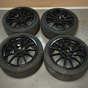 Mitsubishi Evo 10 – OEM Black Alloy Wheels | 5×114.3 | 18″
