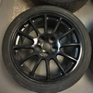 Mitsubishi Evo 10 – OEM 18″ Black Alloy Wheels