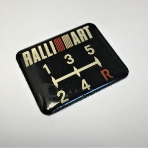 Ralliart 5-Speed Shift Pattern Badge