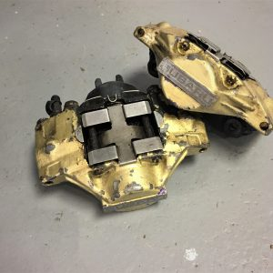 Subaru Impreza GDA WRX – 2-Pot Gold Rear Calipers
