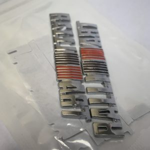 Silver Ralliart Adhesive Badges
