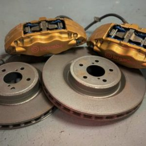 Subaru Impreza GC8/GDA – OEM Front Brembo Brake Calipers + Used Brake Discs & Pads