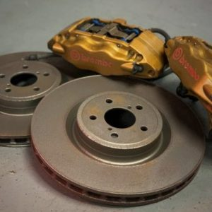 Subaru Impreza GC8/GDA – OEM Front Brembo Brake Calipers + Used Brake Discs & Pads (87083010)