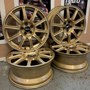 BBS STi Gold Alloy Wheels | 17x7JJ | 5×100 | ET:53