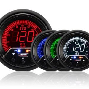 Prosport Performance – NEW 60mm Evo LCD Peak / Warning Oil Temperature Gauge