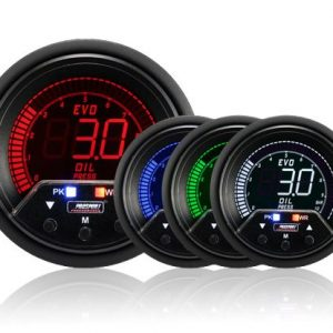 Prosport Performance – NEW 60mm Evo LCD Peak / Warning Oil Pressure Gauge (Bar) (87089993)