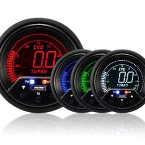Prosport Performance – NEW 60mm EVO LCD Peak/ Warning Boost Gauge (Bar)
