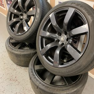 Nissan Skyline R35 GTR – OEM Black Edition Alloy Wheels | 5×114.3 | 20″