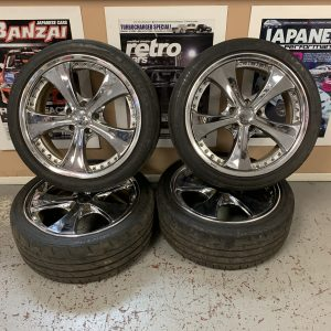 WEDS Kranze Ratzinger Chrome Split Rim Alloy Wheels | 5×114.3 | 18x7JJ | ET:44